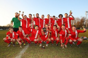 Winners Tiptree Elite after Tiptree Elite vs CFC Shalford Reserves, Braintree & North Essex League Division One Cup Final Football at Rosemary Lane on 13th March 2016