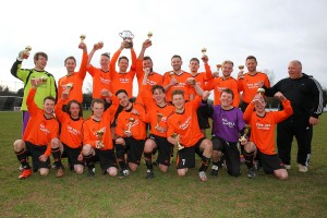 Winners Great Bardfield after Great Bardfield vs Onley Arms, Braintree & North Essex League Cup Final Football at Rosemary Lane on 20th March 2016