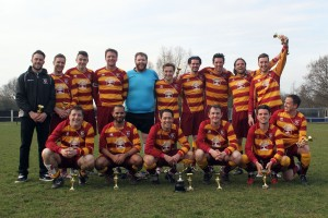 Witham Phoenix vs CFC Shalford Reserves, Braintree & North Essex League Malcolm Foy Memorial Trophy Final Football at Rosemary Lane on 3rd April 2016